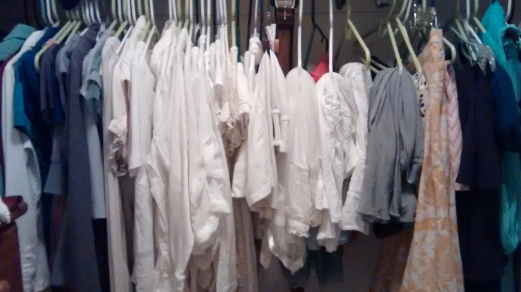 White is taking over my closet (thanks, Goodwill)